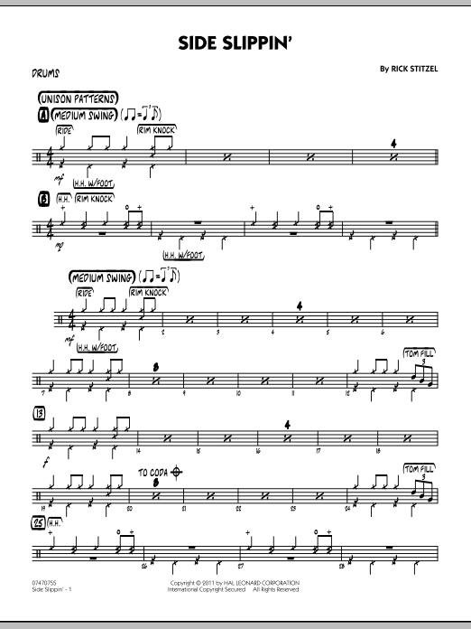 Side Slippin' - Drums (Jazz Ensemble)