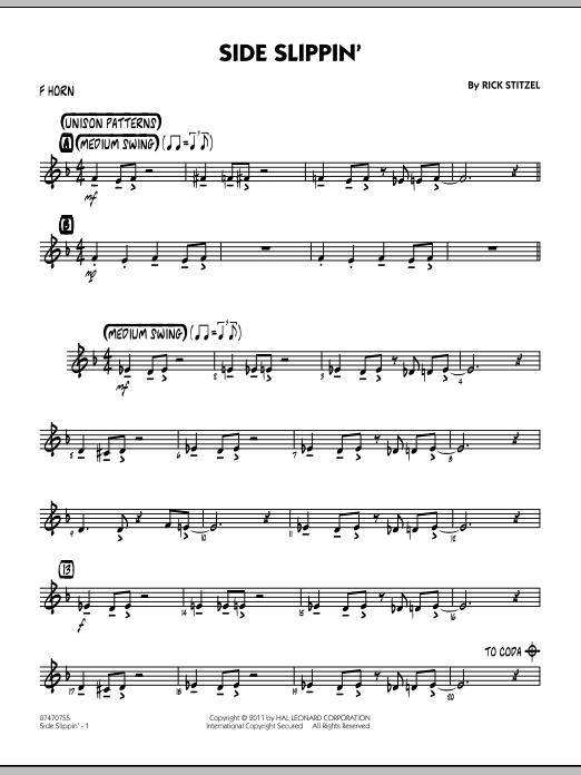 Side Slippin' - F Horn (Jazz Ensemble)