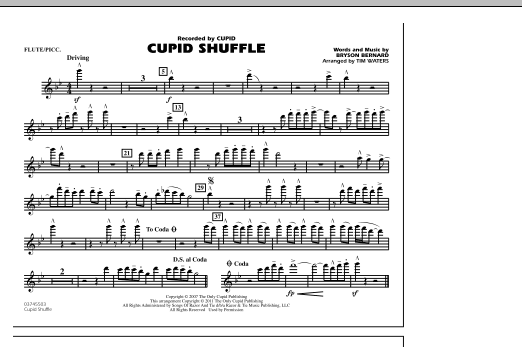 Cupid Shuffle - Flute/Piccolo (Marching Band)