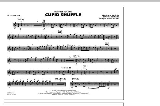 Cupid Shuffle - Bb Tenor Sax (Marching Band)
