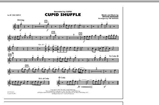 Cupid Shuffle - 1st Bb Trumpet (Marching Band)