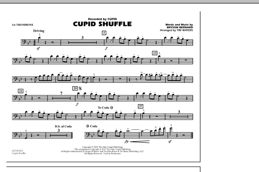 Cupid Shuffle - 1st Trombone (Marching Band)