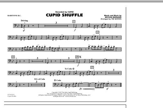 Cupid Shuffle - Baritone B.C. (Marching Band)