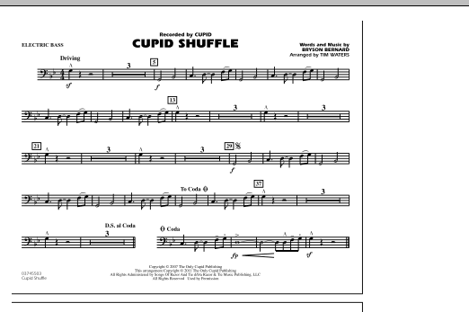 Cupid Shuffle - Electric Bass (Marching Band)