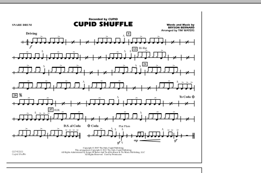 Cupid Shuffle - Snare Drum (Marching Band)