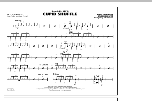 Cupid Shuffle - Aux Percussion (Marching Band)