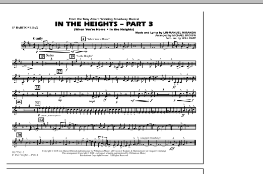 In The Heights: Part 3 - Eb Baritone Sax (Marching Band)