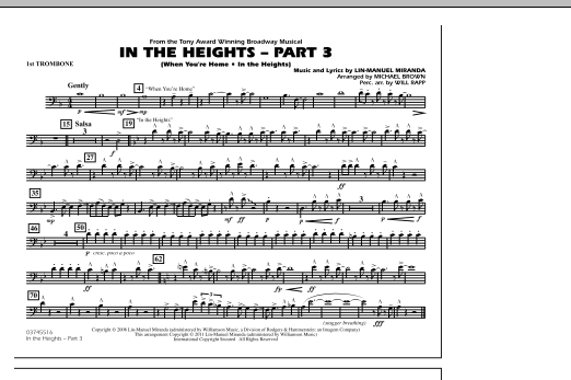 In The Heights: Part 3 - 1st Trombone (Marching Band)