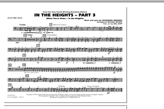 In The Heights: Part 3 - Electric Bass (Marching Band)