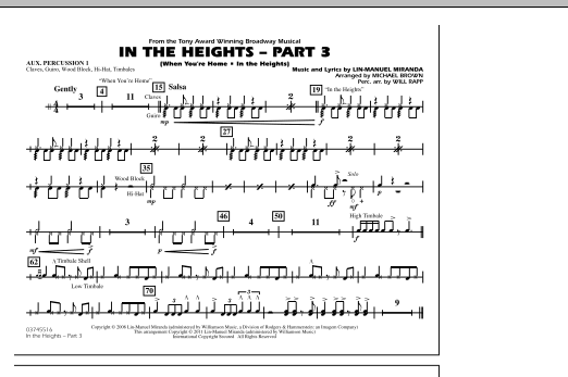 In The Heights: Part 3 - Aux. Percussion 1 (Marching Band)