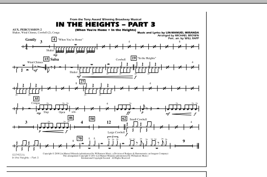 In The Heights: Part 3 - Aux. Percussion 2 (Marching Band)