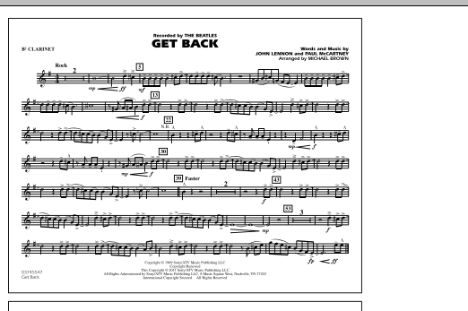 Get Back - Bb Clarinet (Marching Band)