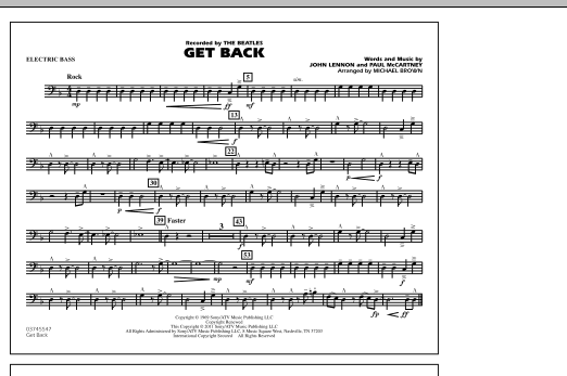 Get Back - Electric Bass (Marching Band)
