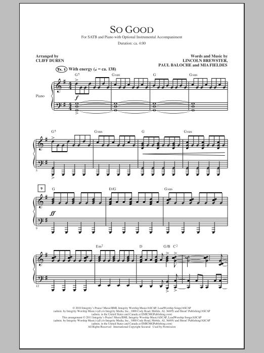 So Good (SATB Choir)
