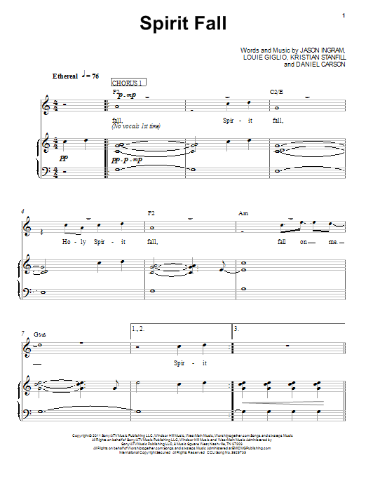 Spirit Fall Sheet Music
