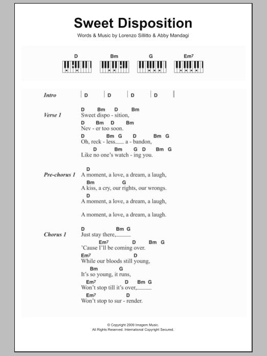 Sweet Disposition Sheet Music