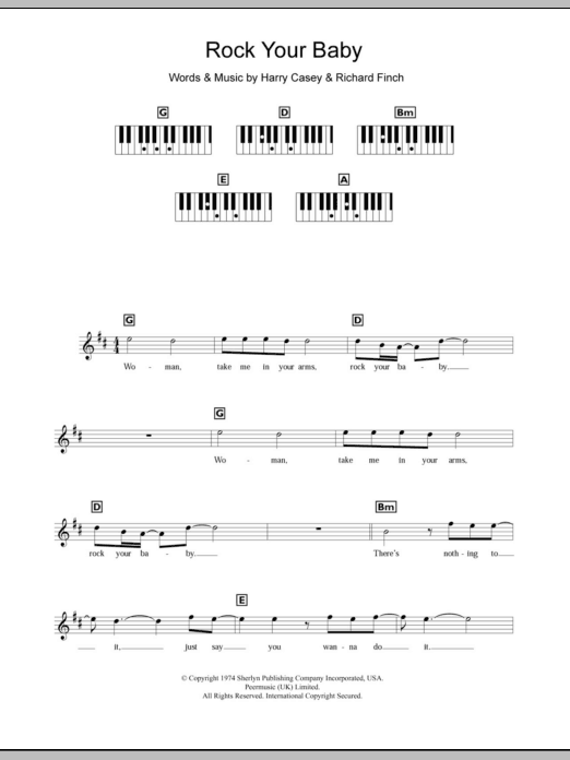 Rock Your Baby Sheet Music