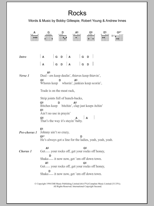 Rocks Sheet Music