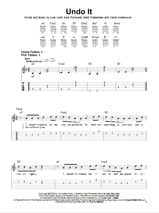 Undo It Sheet Music