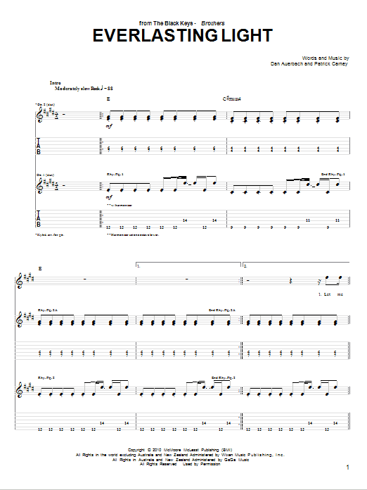 Everlasting Light Sheet Music
