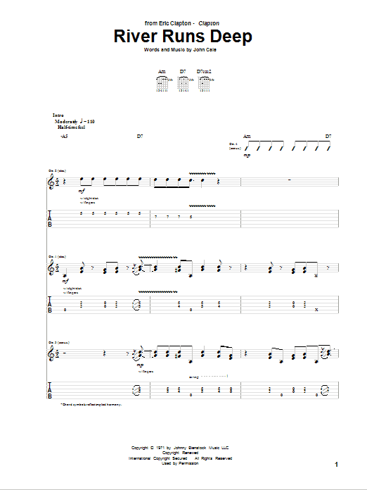 River Runs Deep Sheet Music