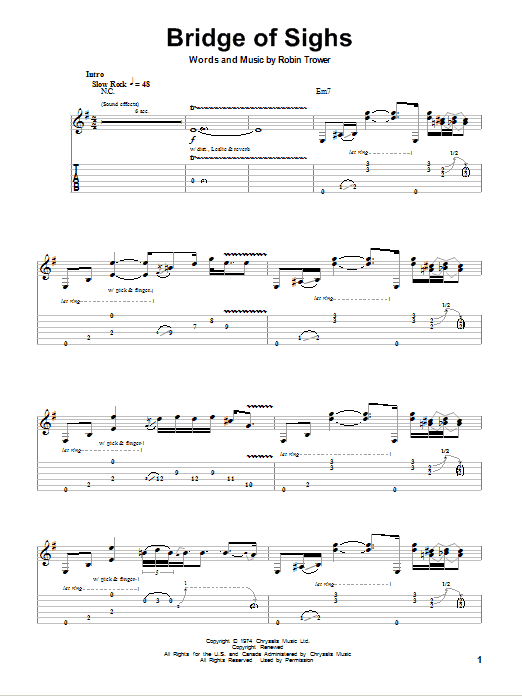 Bridge Of Sighs (Guitar Tab (Single Guitar))