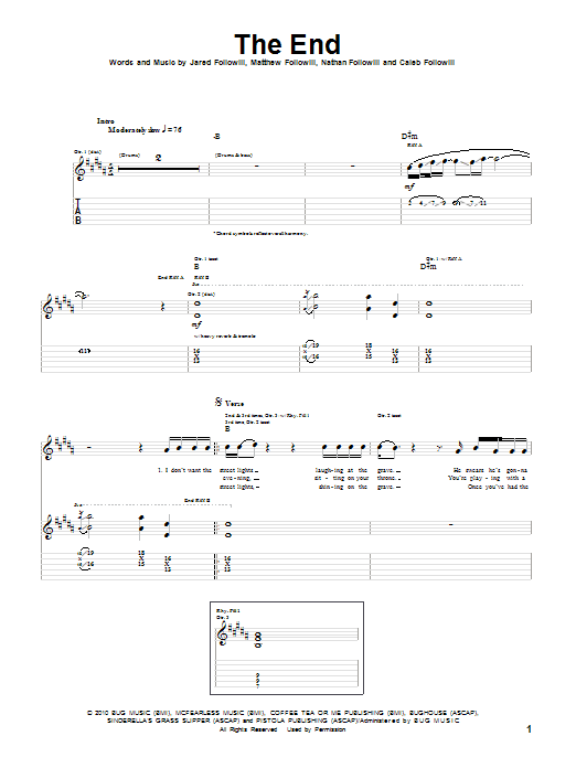 The End (Guitar Tab)
