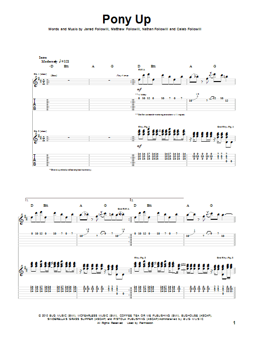 Pony Up Sheet Music