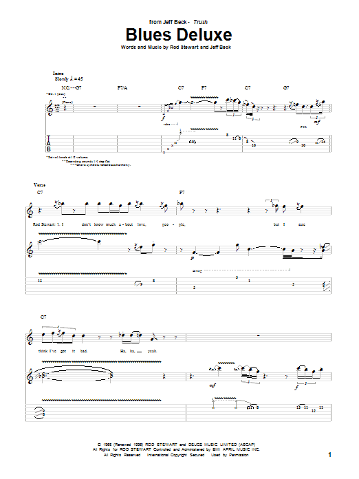 Blues Deluxe Sheet Music