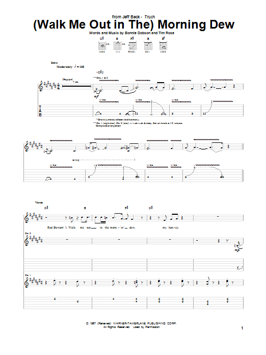 (Walk Me Out In The) Morning Dew Sheet Music