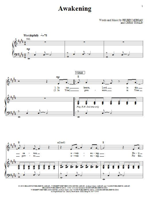 Awakening (Piano, Vocal & Guitar (Right-Hand Melody))