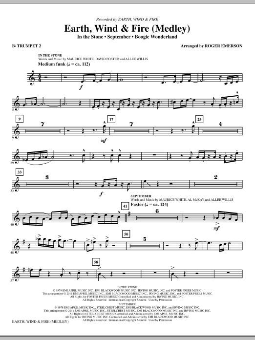 Earth, Wind & Fire (Medley) - Bb Trumpet 2 (Choir Instrumental Pak)