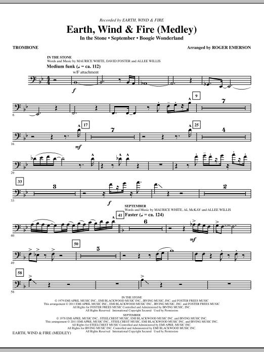 Earth, Wind & Fire (Medley) - Trombone (Choir Instrumental Pak)