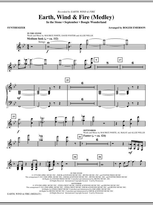 Earth, Wind & Fire (Medley) - Synthesizer (Choir Instrumental Pak)