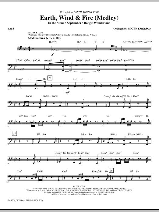 Earth, Wind & Fire (Medley) - Bass (Choir Instrumental Pak)