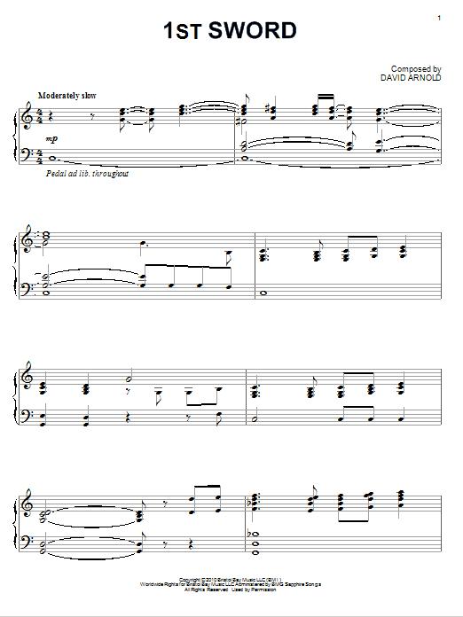 1st Sword Sheet Music