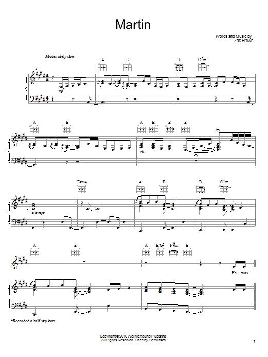 Martin (Piano, Vocal & Guitar (Right-Hand Melody))