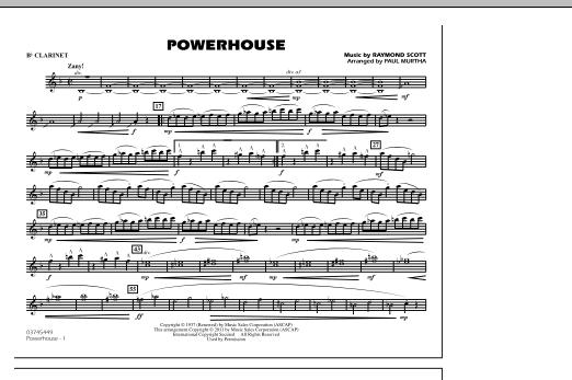 Powerhouse - Bb Clarinet (Marching Band)