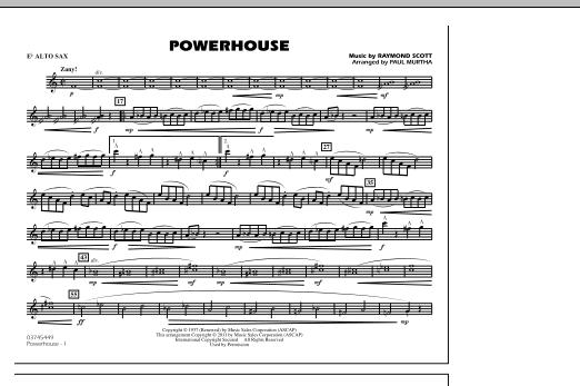 Powerhouse - Eb Alto Sax (Marching Band)