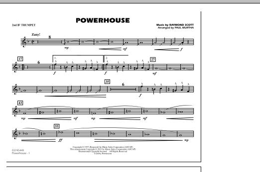 Powerhouse - 2nd Bb Trumpet (Marching Band)