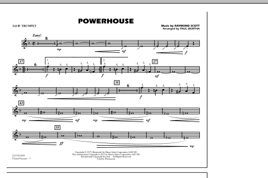 Powerhouse - 3rd Bb Trumpet (Marching Band)