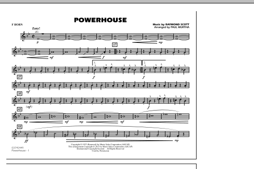 Powerhouse - F Horn (Marching Band)