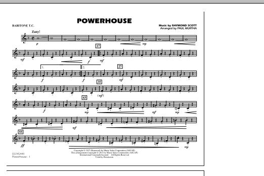 Powerhouse - Baritone T.C. (Marching Band)