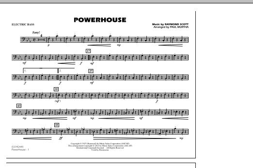 Powerhouse - Electric Bass (Marching Band)