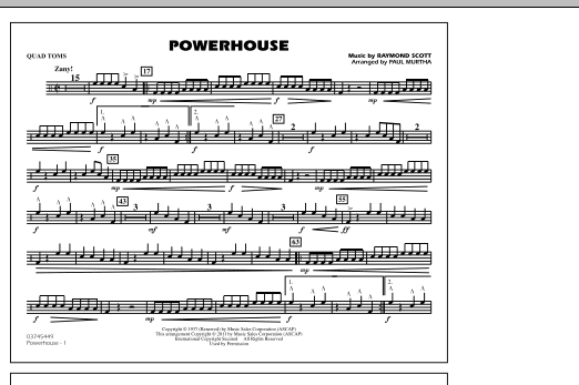 Powerhouse - Quad Toms (Marching Band)