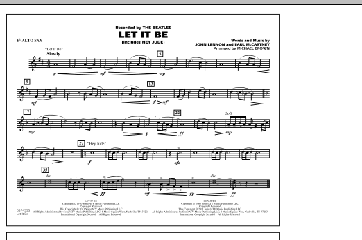 Let It Be - Score & Parts by John Lennon
