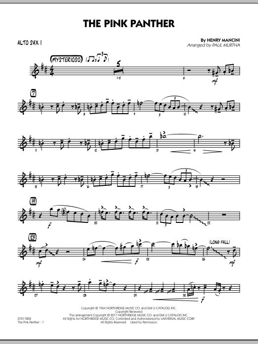 The Pink Panther - Alto Sax 1 (Jazz Ensemble)