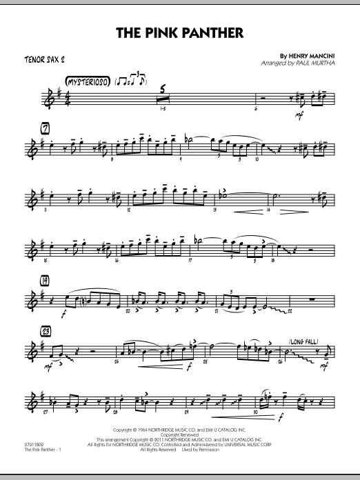 The Pink Panther - Tenor Sax 2 (Jazz Ensemble)