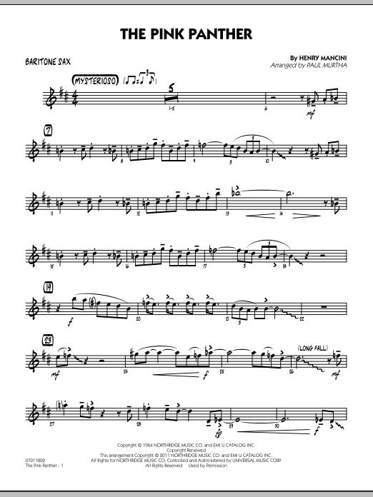 The Pink Panther - Baritone Sax (Jazz Ensemble)