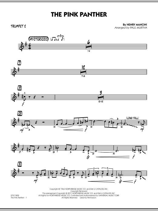 The Pink Panther - Trumpet 2 (Jazz Ensemble)
